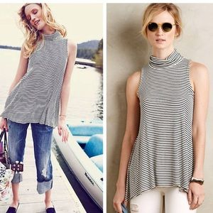 Anthropologie Purella Turtleneck Swing Tank